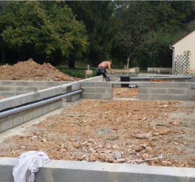 Construction de maison (fondations - vide sanitaire)